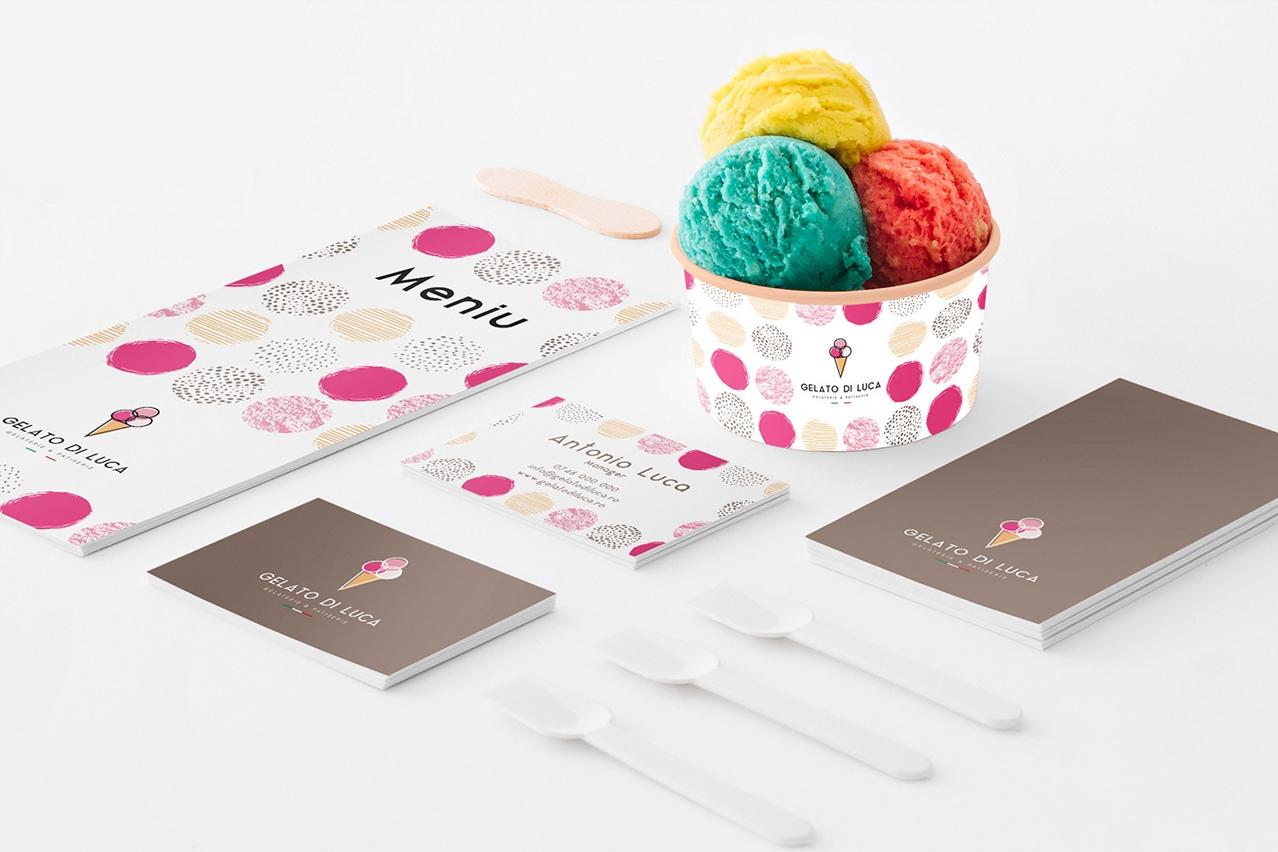Gelato di Luca - Logo and package design