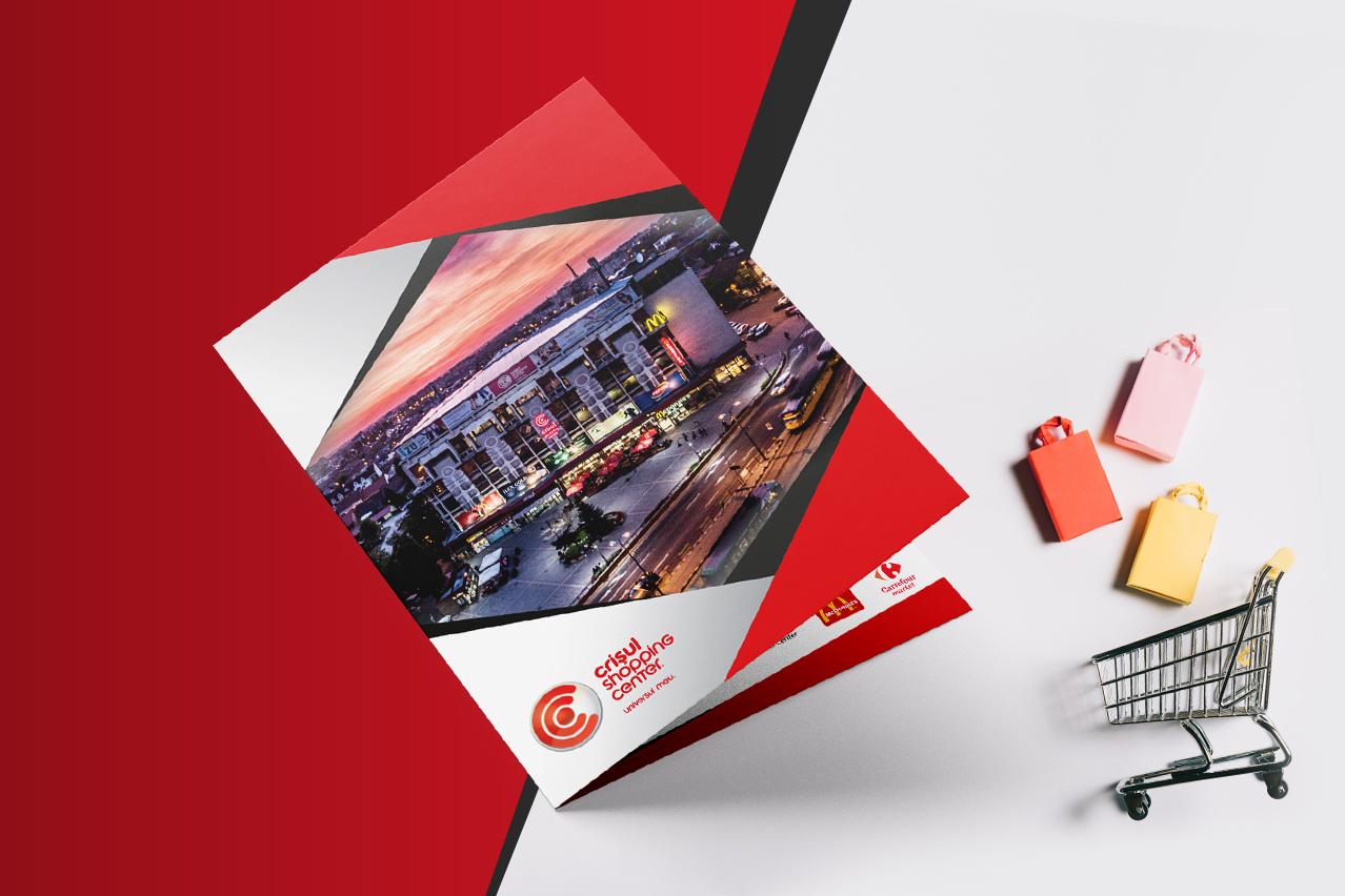 design flyer Crișul center