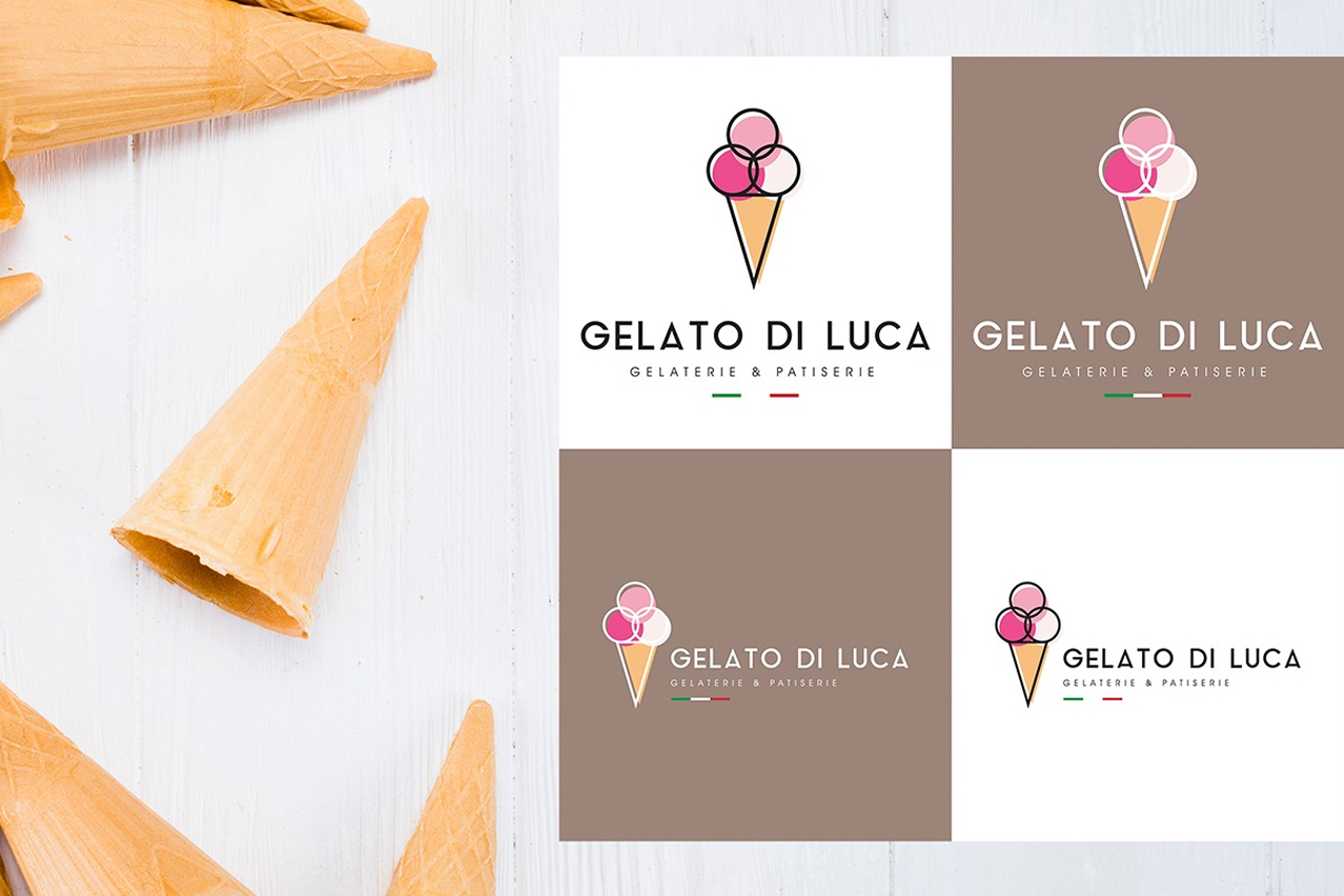 gelaterie logo design